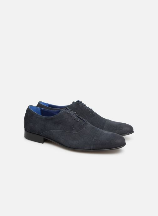 Lace-up shoes Azzaro Cipriol Blue 3/4 view