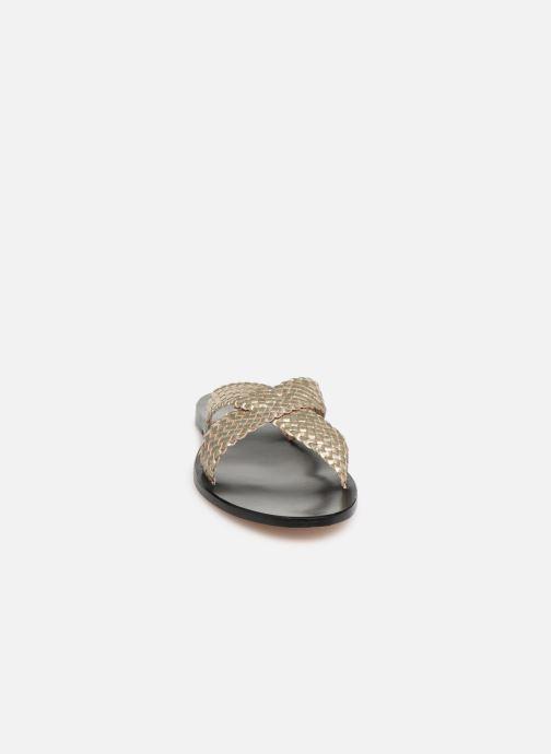Mules et sabots Dragon Diffusion Nora Or et bronze vue portées chaussures