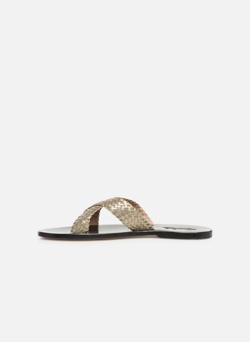 Mules & clogs Dragon Diffusion Nora Bronze and Gold front view