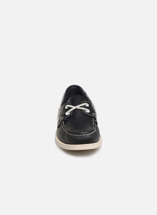 Chaussures à lacets Sebago Docksides Portland Bleu vue portées chaussures