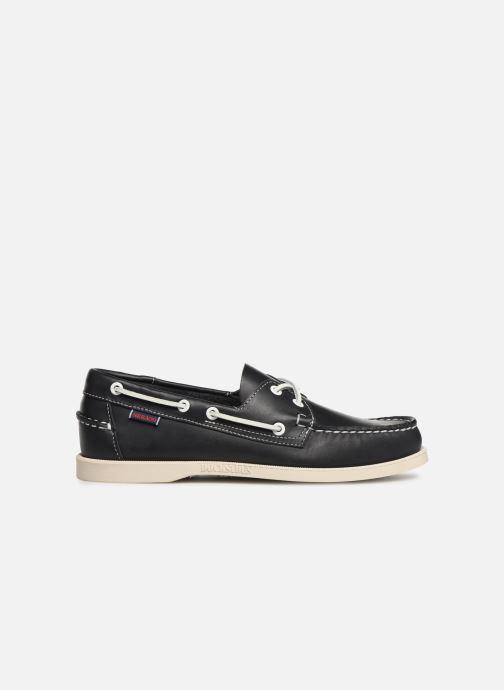 Zapatos con cordones Sebago Docksides Portland Azul vistra trasera