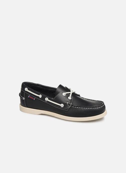 Zapatos con cordones Sebago Docksides Portland Azul vista de detalle / par