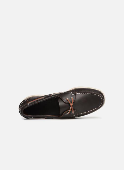 Zapatos con cordones Sebago Docksides Portland Marrón vista lateral izquierda