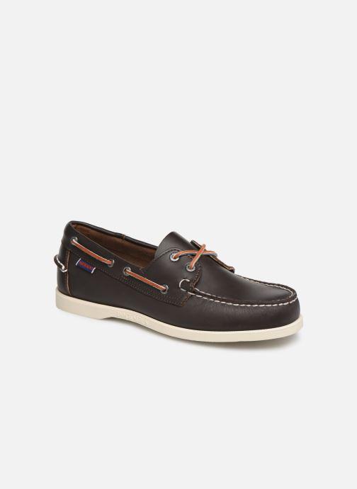 Zapatos con cordones Sebago Docksides Portland Marrón vista de detalle / par