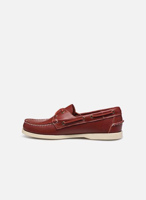 Chaussures à lacets Sebago Docksides Portland Rouge vue face