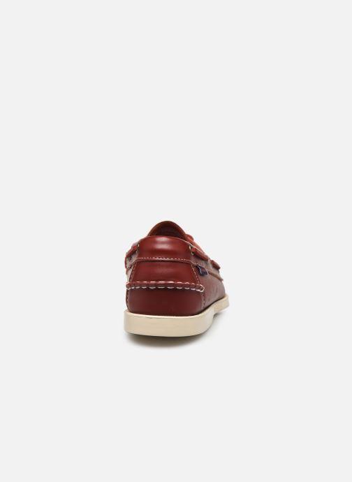 Chaussures à lacets Sebago Docksides Portland Rouge vue droite