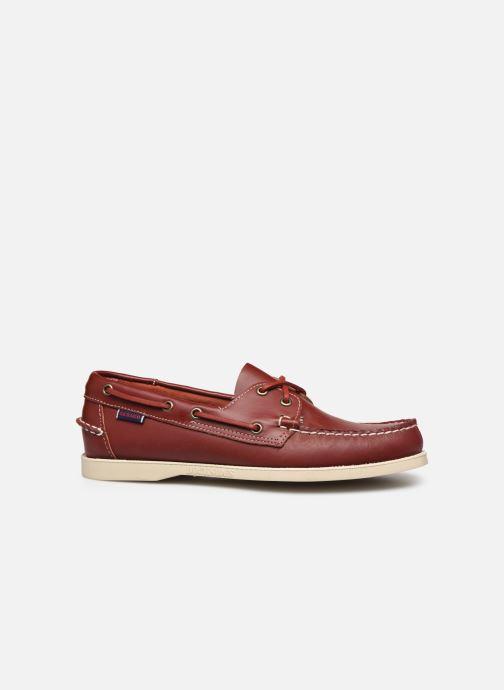 Chaussures à lacets Sebago Docksides Portland Rouge vue derrière