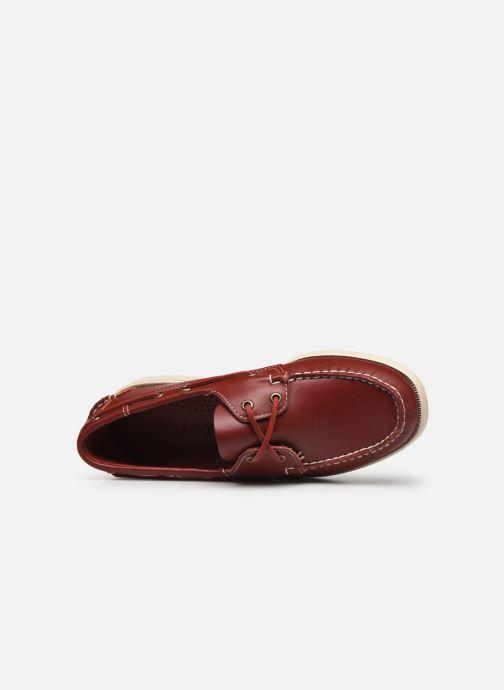 Chaussures à lacets Sebago Docksides Portland Rouge vue gauche