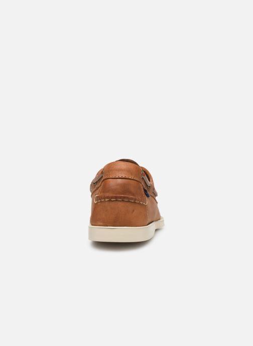 Chaussures à lacets Sebago Docksides Crazy Horse Marron vue droite