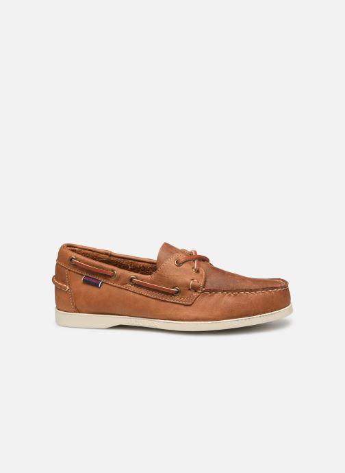 Chaussures à lacets Sebago Docksides Crazy Horse Marron vue derrière