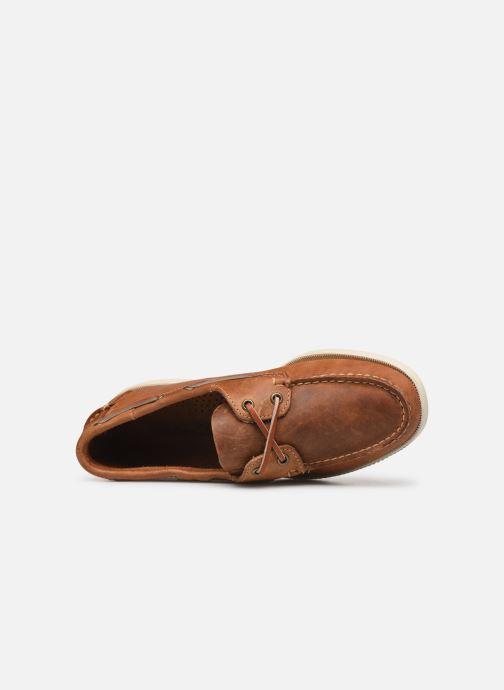 Chaussures à lacets Sebago Docksides Crazy Horse Marron vue gauche