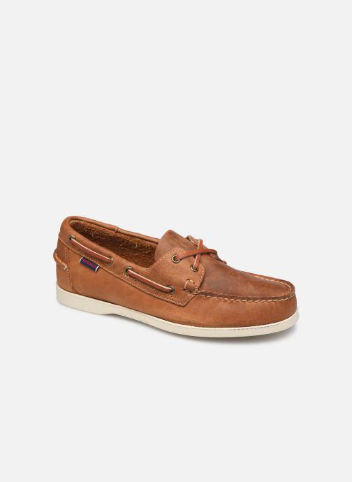 Chaussures à lacets Sebago Docksides Crazy Horse Marron vue détail/paire