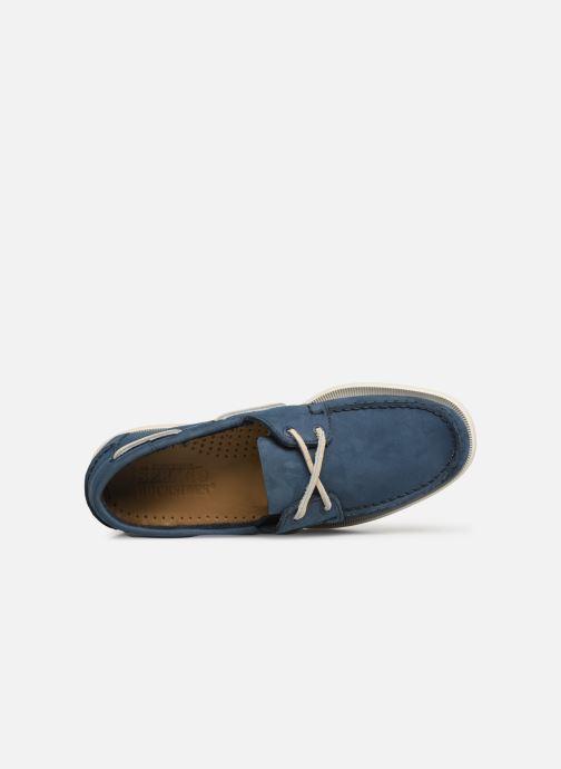 Sebago Blue Navy À Portland Docksides Chaussures Lacets Nubuck Lq3A5j4R