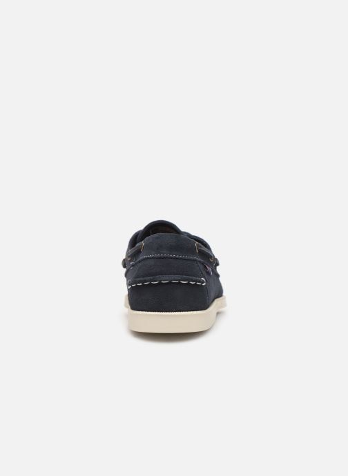 Lace-up shoes Sebago Docksides M C Blue view from the right