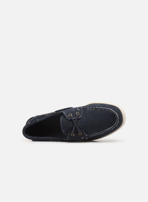 Lace-up shoes Sebago Docksides M C Blue view from the left