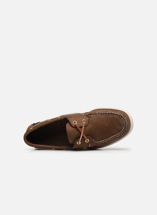 Chaussures à lacets Sebago Docksides M C Marron vue gauche