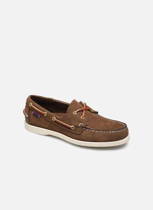 Chaussures à lacets Sebago Docksides M C Marron vue détail/paire