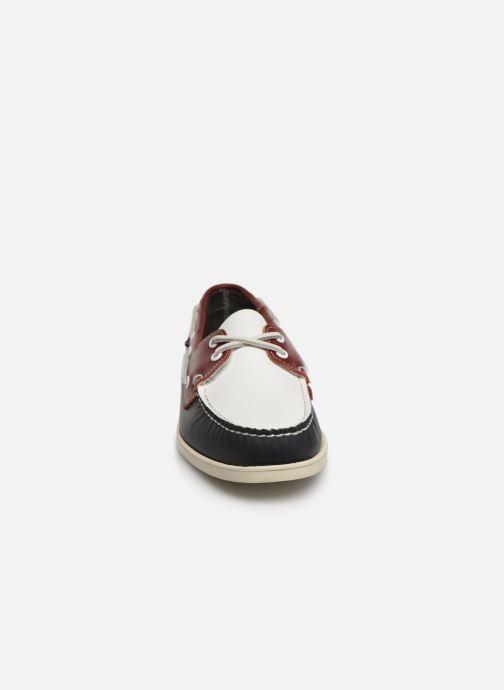 Zapatos con cordones Sebago Docksides Portland Spinnaker Azul vista del modelo
