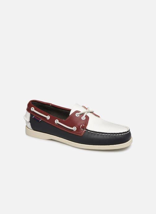 Zapatos con cordones Sebago Docksides Portland Spinnaker Azul vista de detalle / par