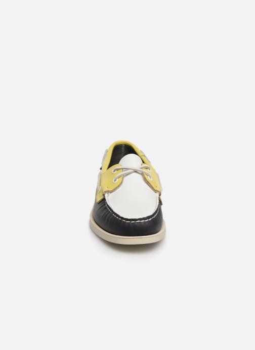 Chaussures à lacets Sebago Docksides Portland Spinnaker Bleu vue portées chaussures