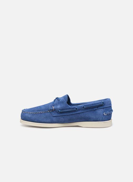 Chaussures à lacets Sebago Docksides Portland Suede Bleu vue face