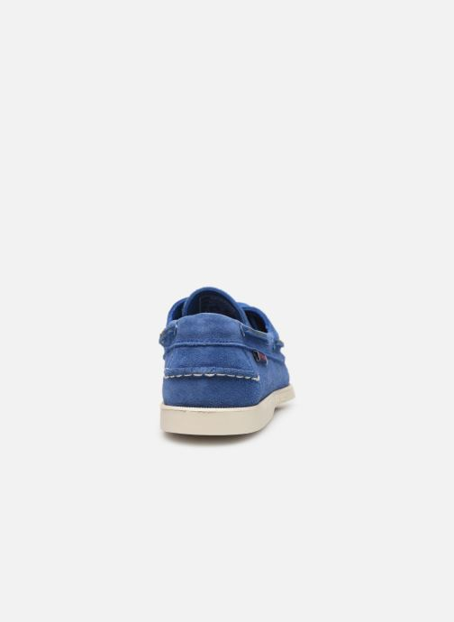Lace-up shoes Sebago Docksides Portland Suede Blue view from the right