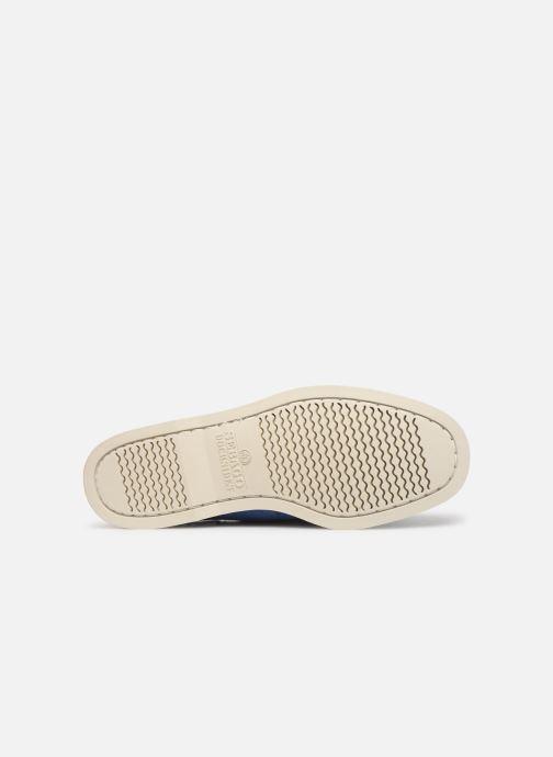 Chaussures à lacets Sebago Docksides Portland Suede Bleu vue haut