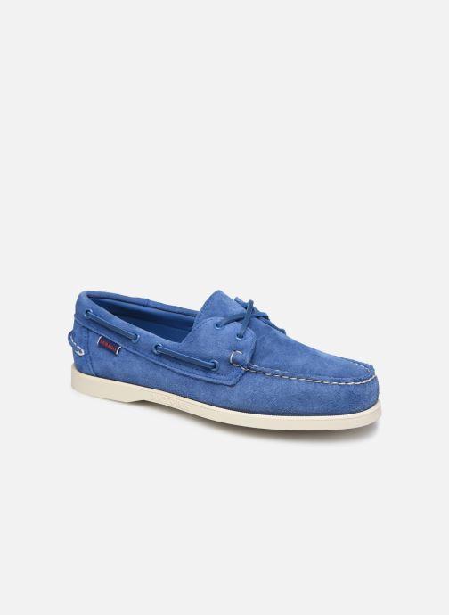Lace-up shoes Sebago Docksides Portland Suede Blue detailed view/ Pair view