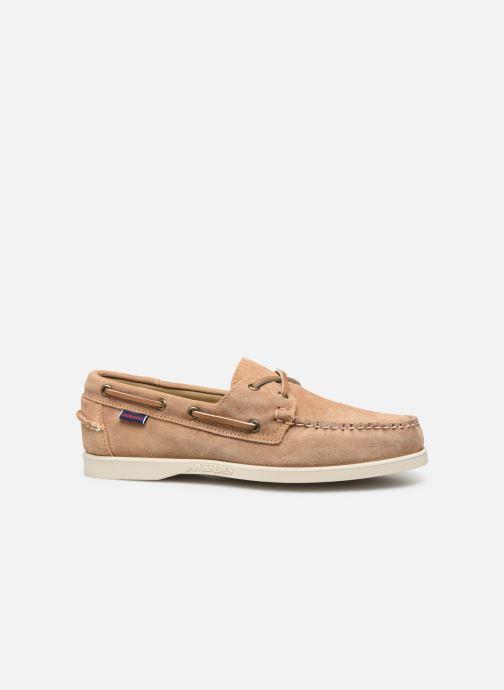 Zapatos con cordones Sebago Portland Docksides Suede Beige vistra trasera