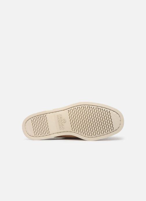 Zapatos con cordones Sebago Portland Docksides Suede Beige vista de arriba