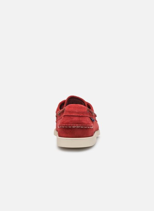 Zapatos con cordones Sebago Portland Docksides Suede Rojo vista lateral derecha