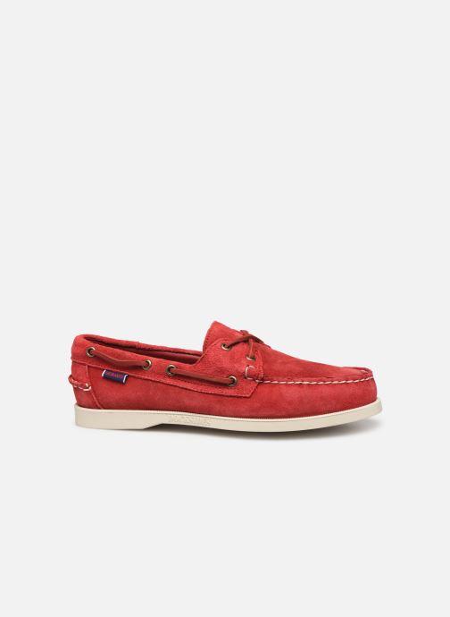 Zapatos con cordones Sebago Portland Docksides Suede Rojo vistra trasera