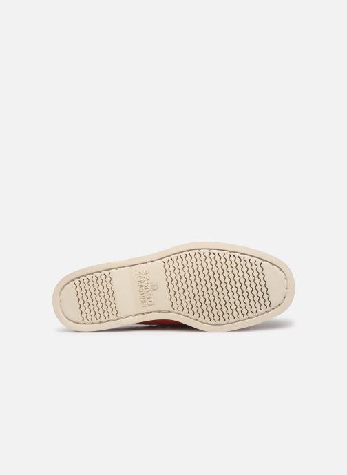 Zapatos con cordones Sebago Portland Docksides Suede Rojo vista de arriba