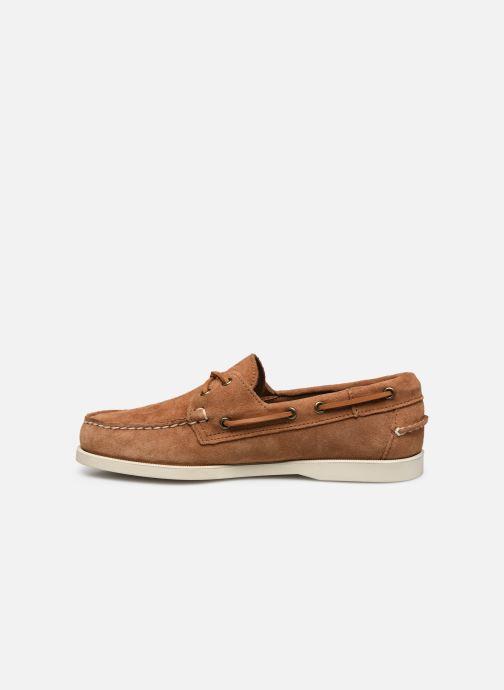 Chaussures à lacets Sebago Portland Docksides Suede Marron vue face