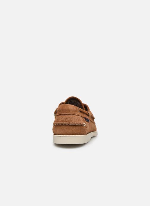 Chaussures à lacets Sebago Portland Docksides Suede Marron vue droite