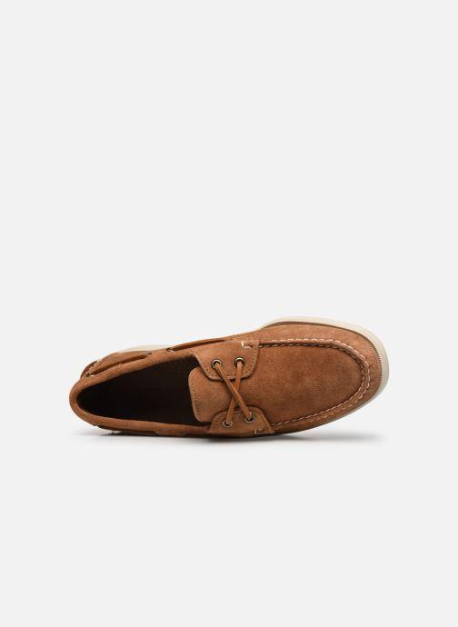 Chaussures à lacets Sebago Portland Docksides Suede Marron vue gauche