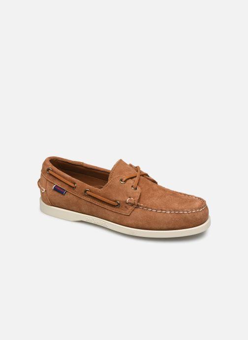 Chaussures à lacets Sebago Portland Docksides Suede Marron vue détail/paire
