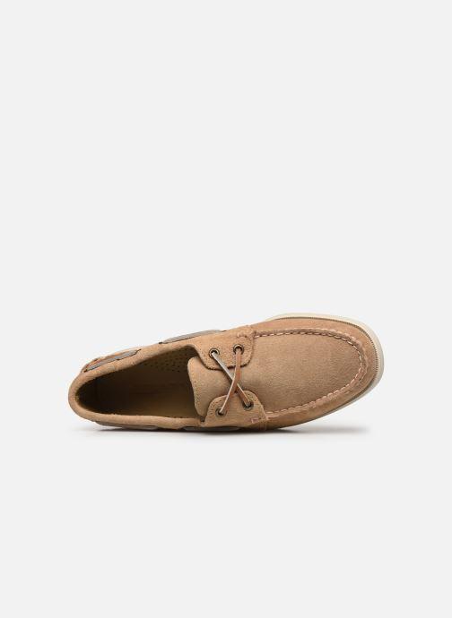 Chaussures à lacets Sebago Portland Docksides Suede Beige vue gauche