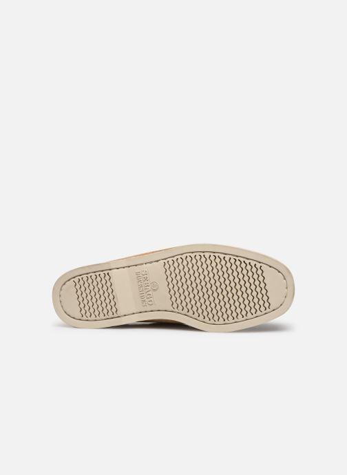Chaussures à lacets Sebago Portland Docksides Suede Beige vue haut