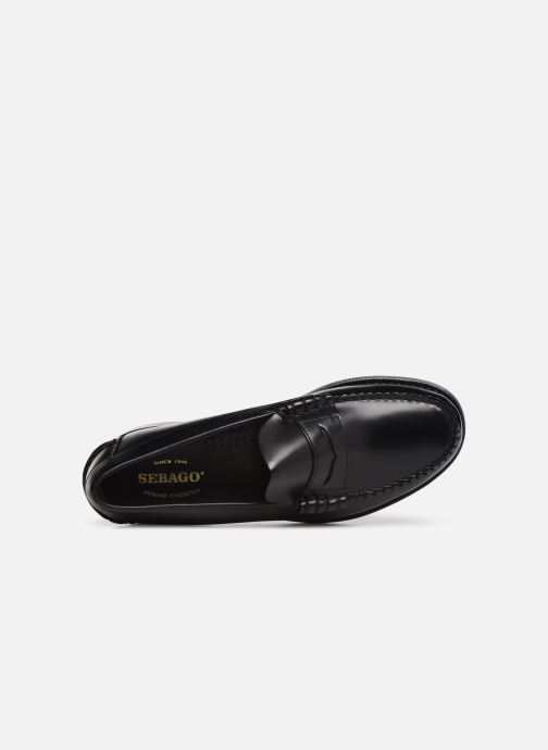 Slipper Sebago Classic Penny Brushed C schwarz ansicht von links