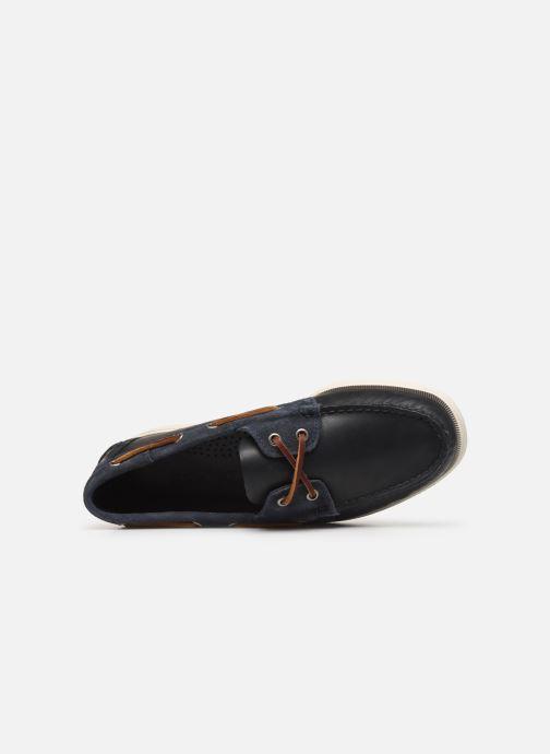 Zapatos con cordones Sebago Portland Winch Azul vista lateral izquierda