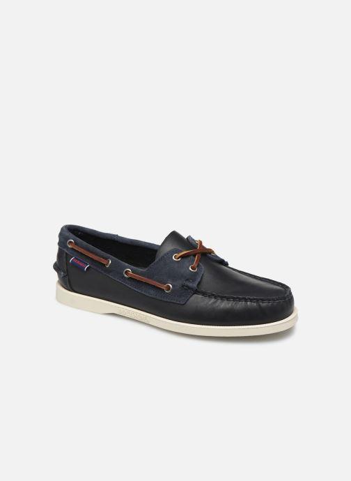 Chaussures à lacets Sebago Portland Winch Bleu vue détail/paire