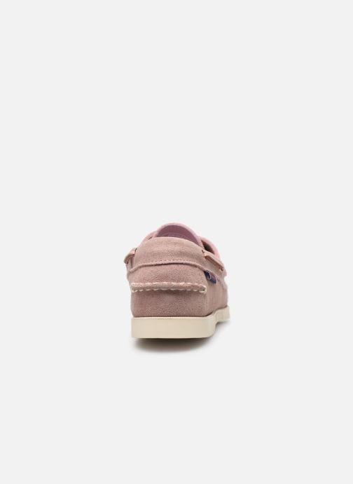 Chaussures à lacets Sebago Docksides Portland Suede W Rose vue droite
