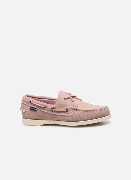 Chaussures à lacets Sebago Docksides Portland Suede W Rose vue derrière