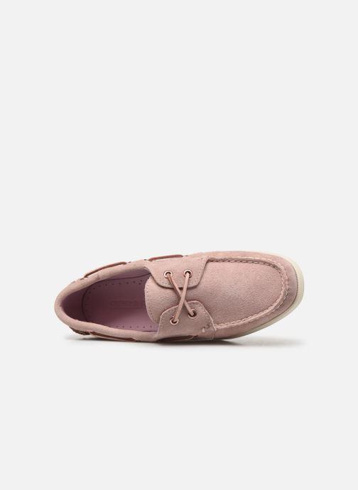Chaussures à lacets Sebago Docksides Portland Suede W Rose vue gauche