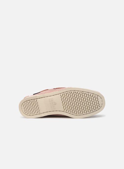 Chaussures à lacets Sebago Docksides Portland Suede W Rose vue haut