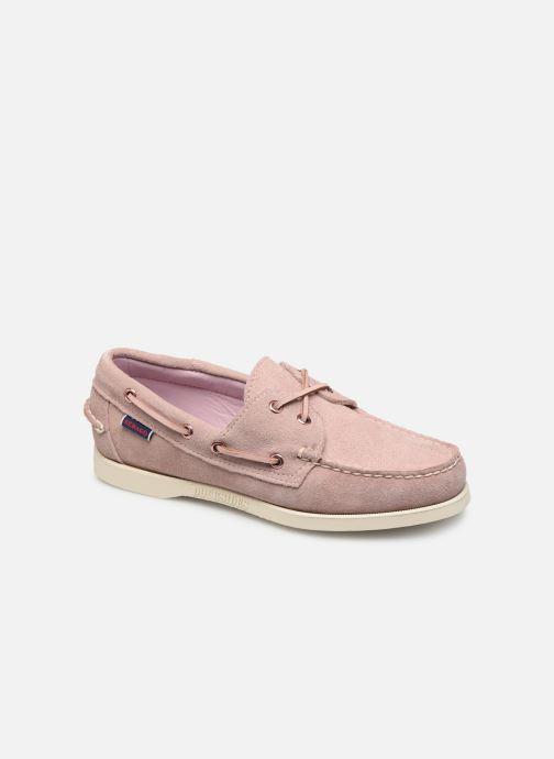 Chaussures à lacets Sebago Docksides Portland Suede W Rose vue détail/paire