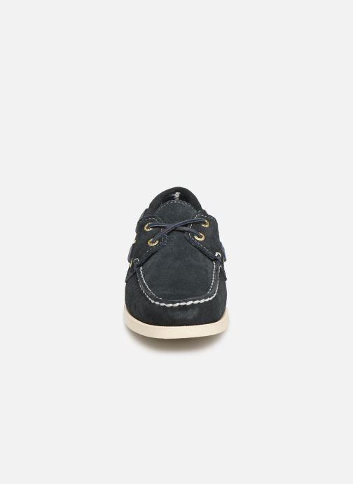 Chaussures à lacets Sebago Docksides Portland Suede W Bleu vue portées chaussures