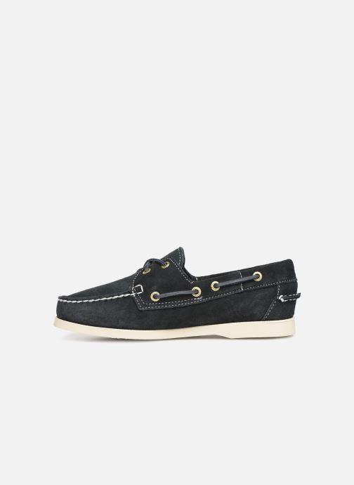Chaussures à lacets Sebago Docksides Portland Suede W Bleu vue face
