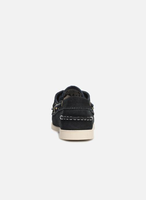 Chaussures à lacets Sebago Docksides Portland Suede W Bleu vue droite